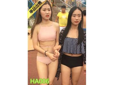 [黑暗枷锁] 白色黑条连体翘臀和蓝色粉色肥臀美女HA006[855M]