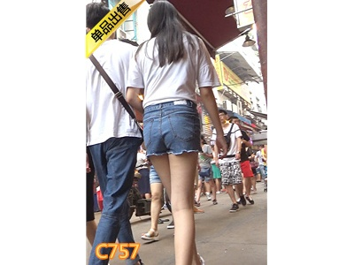 [麋小鹿] 高挑极品牛仔热裤少女待开发[553M] 编号:C757