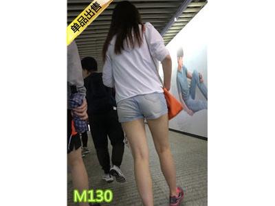 [热裤短裤] 4K-三个白腿员润饱满翘臀热裤美眉M130[898M]
