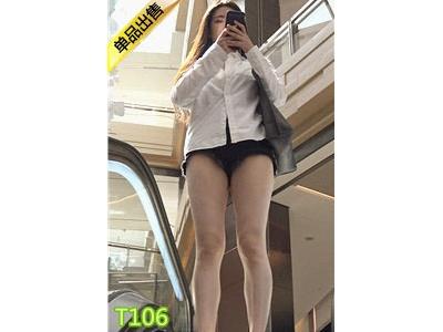 [热裤短裤] 4K-街拍黑色热裤极品长腿美女第2季T106[1.3G]
