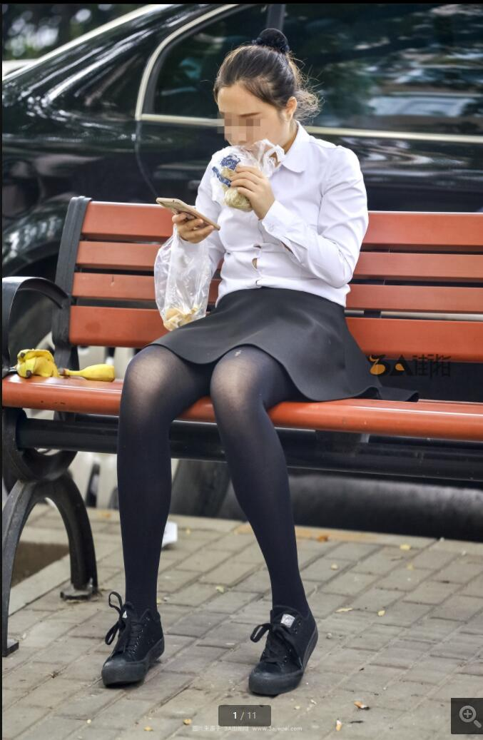 街头丝袜美女纪实拍 -11P